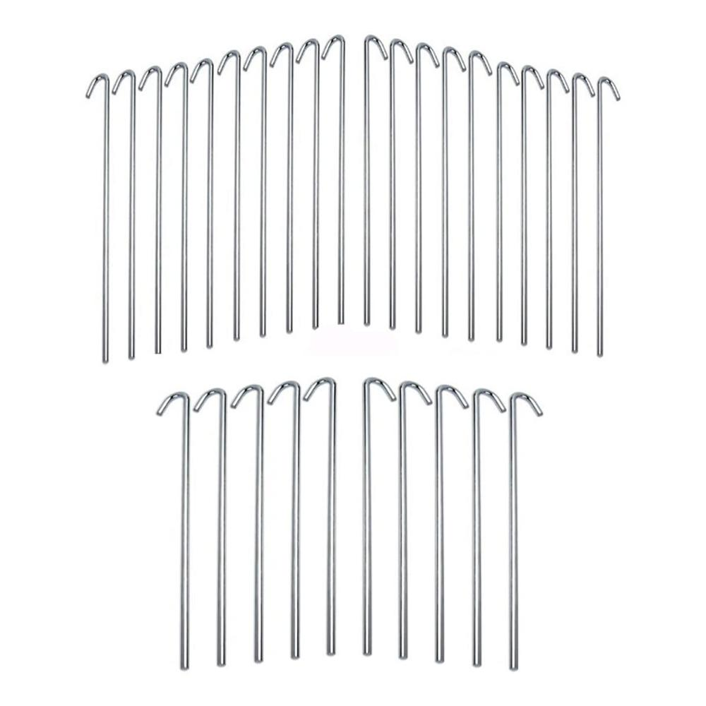 Iit 9in 30pc Galvanized Steel Tent Pegs Garden Stakes