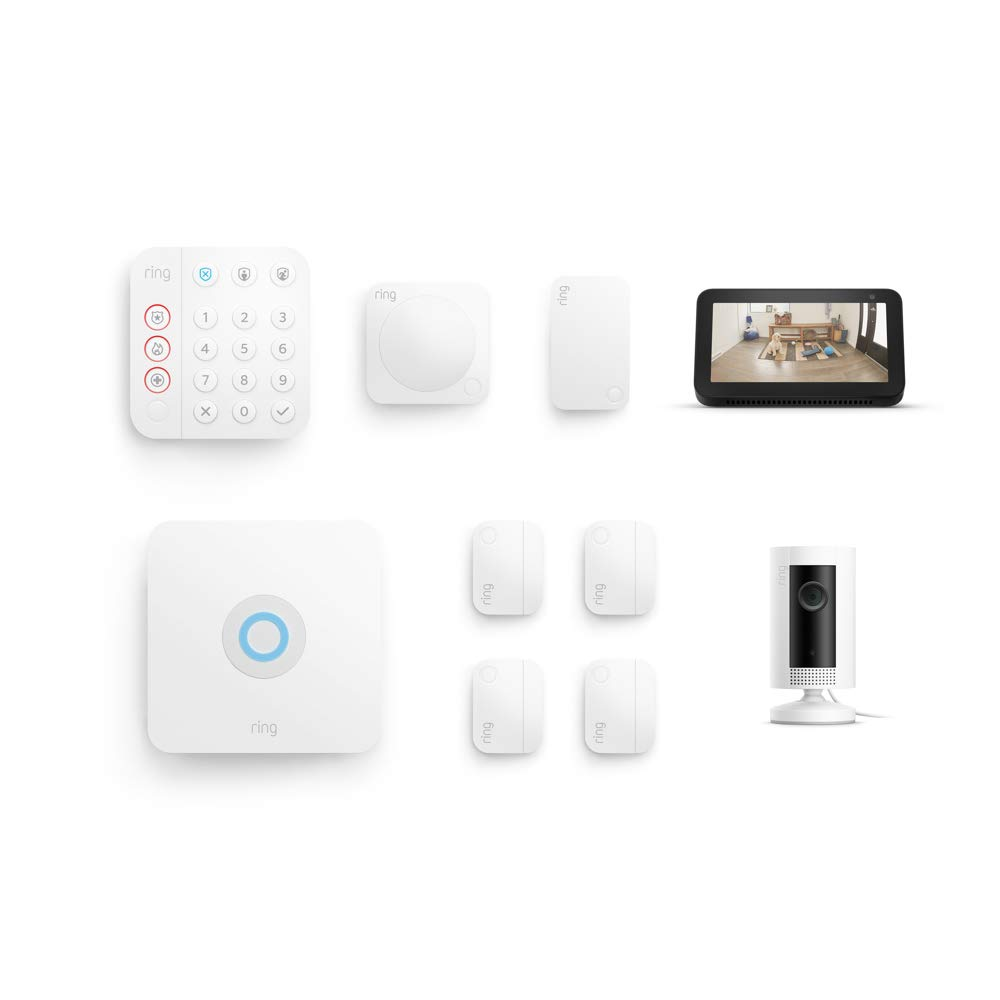 Ring Alarm 8 Piece Kit Echo Dot
