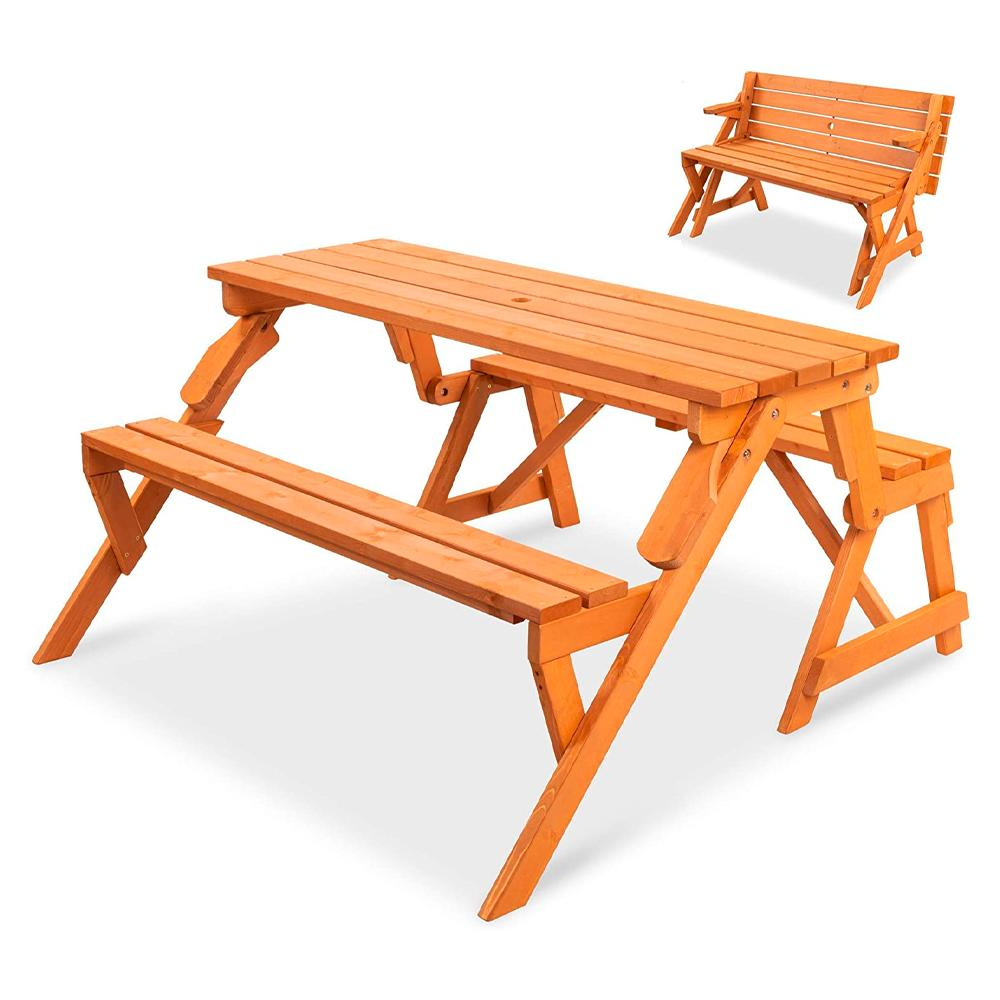 Best Choice Products 2in1 Transforming Garden Bench