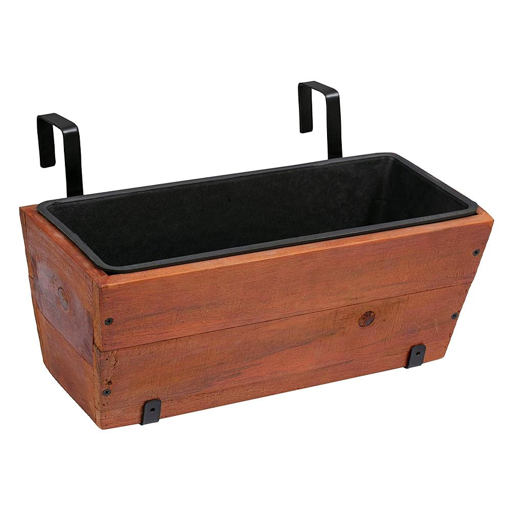 Amazon Basics Recycled Wood Planter