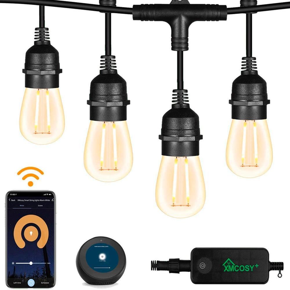 Xmcosy Outdoor Smart String Lights