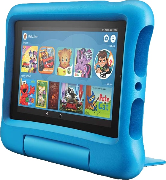 Amazon Fire 7 Kids Edition Cropped Render
