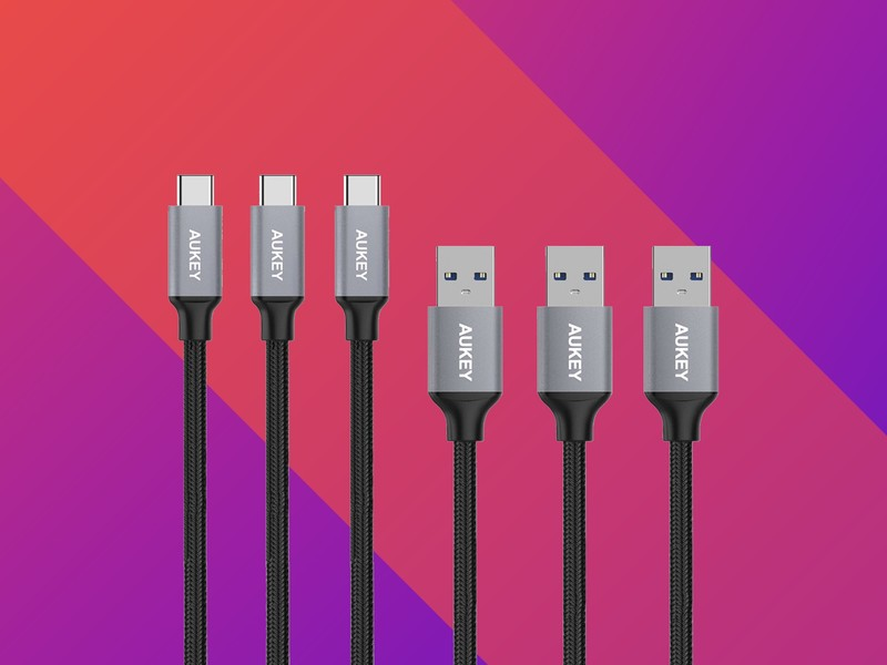 Aukey is offering 3-packs of its USB-C cables for as little as $9, 5-packs for $14 aukey usb c cables 2