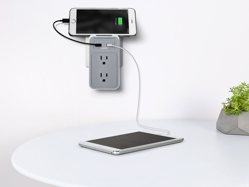 Aukey\'s $11 power strip adds a pair of USB ports to your wall outlet ...