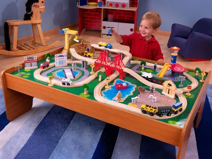 All Aboard This 79 Kidkraft Ride Around Train Set And Table