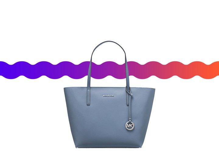 7eb3b8279a03 The Haley Tote comes in Denim/Puple and Pearl-Gray/Cement. This is a coated  canvas carryall and features a unlined interior, removable zip pouch and is  ...