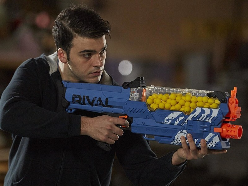 The Nerf Rival Nemesis is a serious shooter with extreme precision and a  fully motorized blaster, meaning you'll need either six D batteries or the  $30 Nerf ...