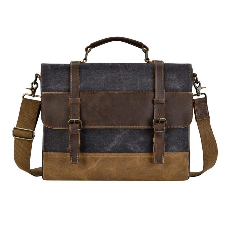 f3f94da905 Tote your daily carry in this  33 Kopack 15.6-inch Leather Messenger Bag