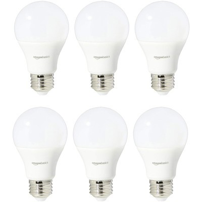 AmazonBasics Daylight A19 LED light bulb 6-pack