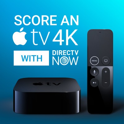 Prepay for 3 months of DIRECTV NOW and get an Apple TV 4K