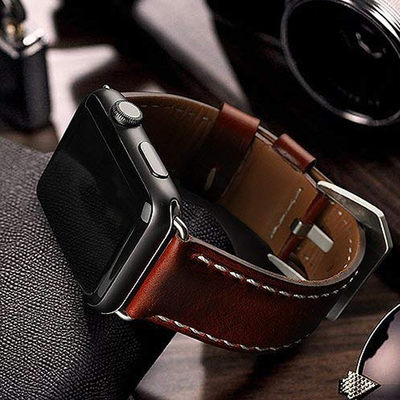 top4cus Genuine Leather Apple Watch Band