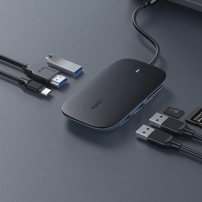 7730cea4cdb Aukey's multi-functional USB-C hub with Power Delivery is on sale for less  than $25