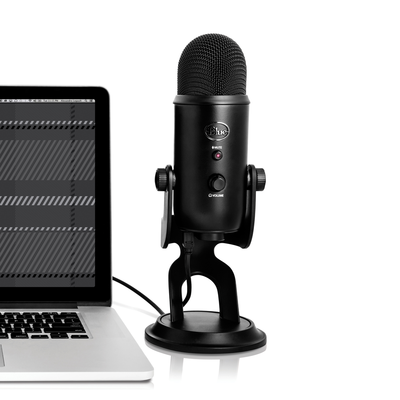 This $76 Blue Yeti Microphone Blackout Bundle includes a download of