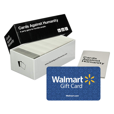 Cards Against Humanity bundled with Walmart gift card
