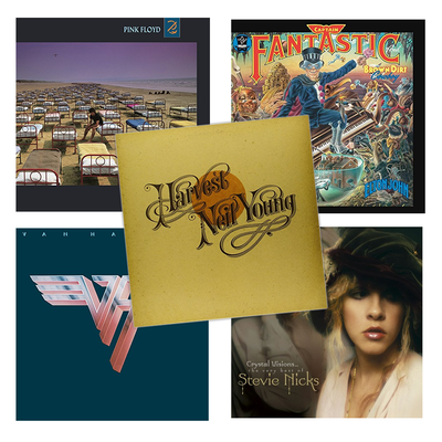 Find a bargain on classic rock and country vinyl records in this