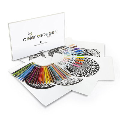Enjoy relaxing drawing activities with the $6 Crayola Color Escapes kit
