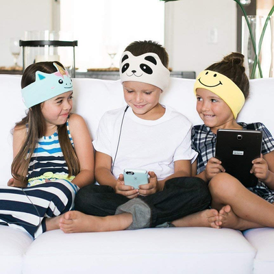 CozyPhones fleece headband with built-in headphones for kids