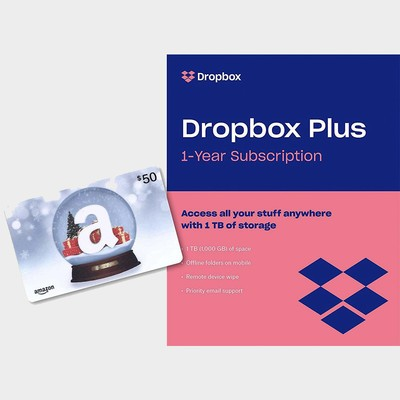 4b988f752e3 Keep it all in the cloud with a year of Dropbox Plus and a  50 gift card  for  99