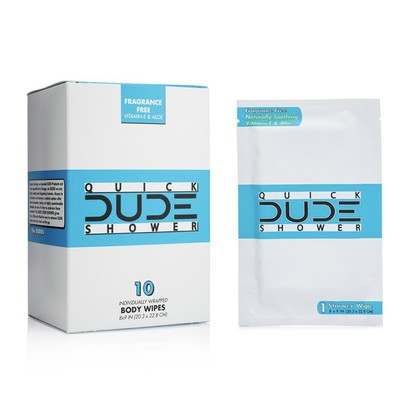 Dude 10 individually wrapped shower body wipes