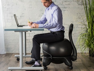 Stupendous Strengthen Your Core With A Gaiam Balance Ball Chair For Caraccident5 Cool Chair Designs And Ideas Caraccident5Info