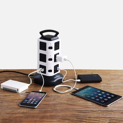 Jackyled 10-Outlet Power Strip Tower