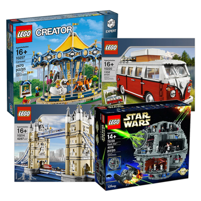 Save 15% on the new or discontinued Lego set of your choice today