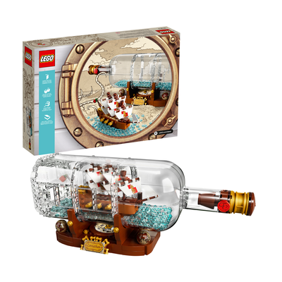 Lego Ship In A Bottle Set