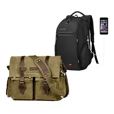 860683578f6 Carry your tech in one of Luxur s durable laptop backpacks from  12