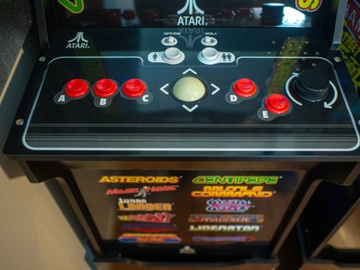 Play 12 old school games on the Arcade1Up Deluxe cabinet for $100 off