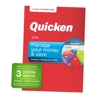 Quicken Deluxe 2018 – Personal Finance & Budgeting Software