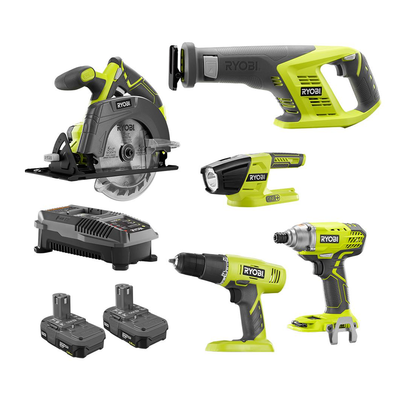 Save 50% off Ryobi's One+ Combo Kit with five power tools, two