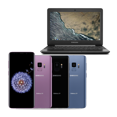 Free Chromebook 3 with an unlocked Samsung Galaxy S9 or S9+