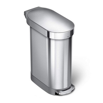 Simplehuman Slim Step Can Brushed Stainless Steel 12-Gallon Trash Can