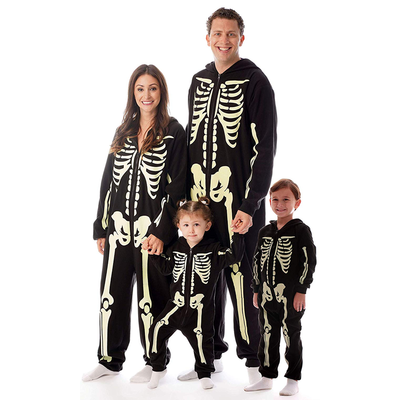 Skeleton Family Halloween Costumes.Join The Skeleton Crew With These Discounted Glow In The