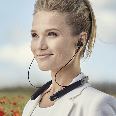Sony Premium Noise-Cancelling wireless behind-neck in-ear headphones