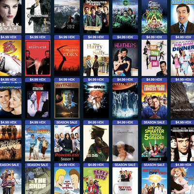 Various digital HDX films and TV shows are down to $5 each at Vudu