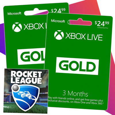 Get six months of Xbox Live and Rocket League for $25 at