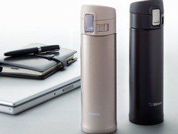 Drink on the go with the spill proof $20 Zojirushi Champagne Gold Stainless Steel Mug