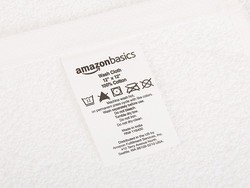 Grab a 24-pack of AmazonBasics White Cotton Washcloths for $11