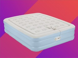 Sleep sound with the $50 AeroBed Double High Queen Comfort Air Mattress