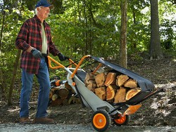 This $27 Aerocart attachment makes hauling firewood a breeze