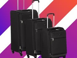 You're not an adult until you have a matching luggage set, and this one is only $110