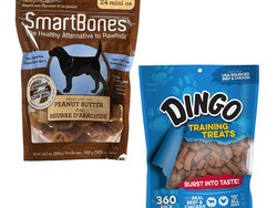 Dog treats from SmartBone, Good 'n Fun, and Dingo are up to 40% off today