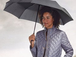 Stay dry with the $14 AmazonBasics Automatic Travel Umbrella with Wind Vent