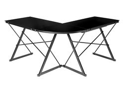 The curved AmazonBasics 3-piece Glass Desk is discounted to $88 today