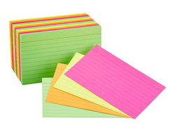 Take better notes with 300 AmazonBasics Ruled Index Cards for $4