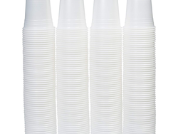 Prep for parties with $5 off this set of 240 disposable plastic cups from AmazonBasics