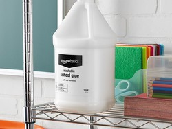 Make a bunch of slime with a gallon of AmazonBasics Washable Liquid Glue for $10