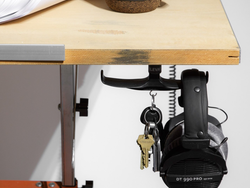 Declutter your desk with this upgraded version of The Anchor under-desk headphone mount