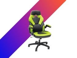 Enhance your next gaming session with this leather gaming chair for $74